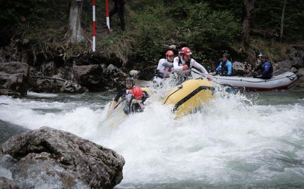I dag begynder Eurocuppen i Østrig, hvor fire danske raftinghold er klar til kamp ned ad floden. Foto: DSRF