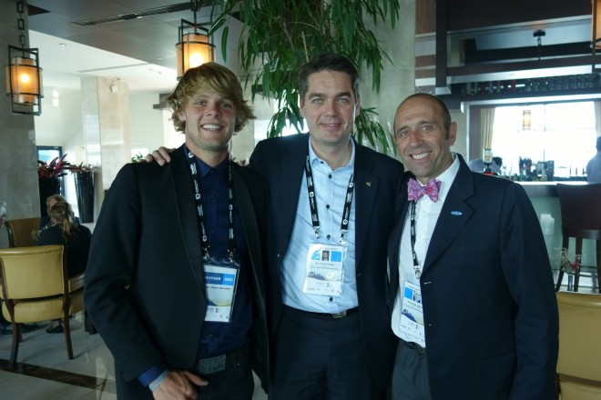 Casper Steinfath, Poul Erik Høyer og Fernando Aguerre sammen i Tyrkiet. Foto: ISA