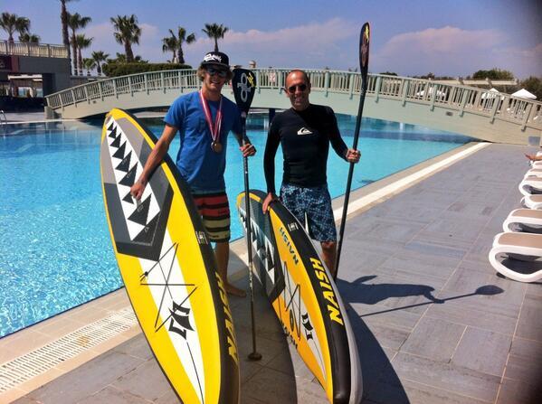 Casper Steinfath og Fernando Aguerre i Tyrkiet. Foto: ISA