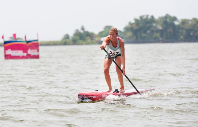 Nicoline Rasmussen i vandet ved Nicaragua tidligere på året. Foto: ISA